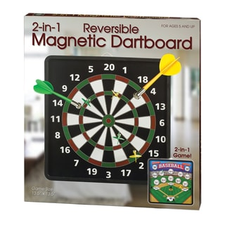 2-in-1 Reversible Magnetic Dartboard