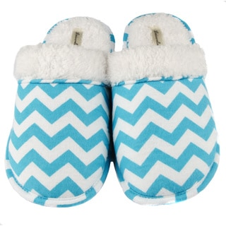 Leisureland Women's Chevron Flannel Slippers