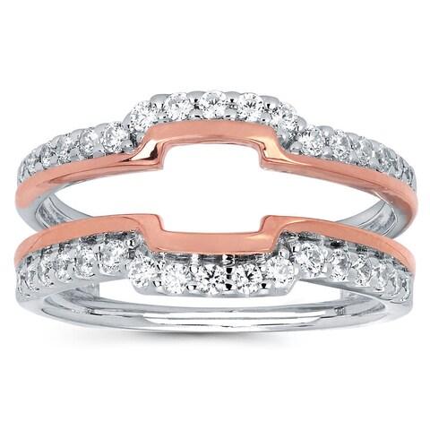 Boston Bay Diamonds 14k Two-tone Gold 1/2ct TDW Diamond Wrap Guard Ring (I, I1)