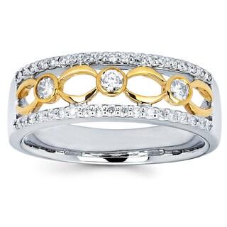 Boston Bay Diamonds 14k Two-tone Gold 1/2ct TDW Diamond Fashion Ring (I-J, I1-I2)