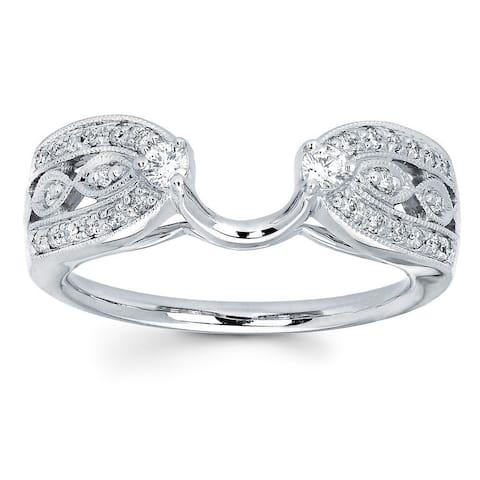 Boston Bay Diamonds 14k White Gold 1/4ct TDW Diamond Ring Wrap (I, I1)