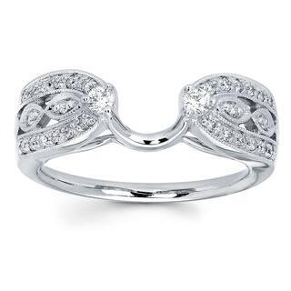 boston bay diamonds 14k white gold 14ct tdw diamond ring wrap i - Wedding Ring Wrap