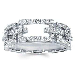 Boston Bay Diamonds 14k White Gold 3/5ct TDW Diamond Fashion Ring (I-J, I1-I2)