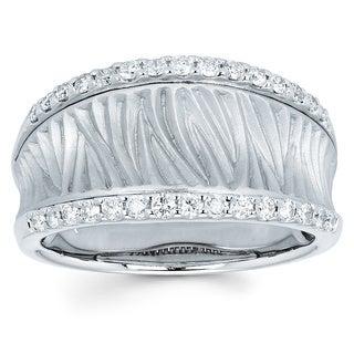 Boston Bay Diamonds 14k White Gold 3/8ct TDW Diamond Fashion Ring (I-J, I1-I2)