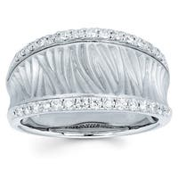Boston Bay Diamonds 14k White Gold 3/8ct TDW Diamond Fashion Ring (I, I1)