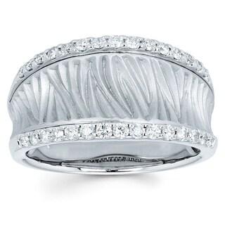 Boston Bay Diamonds 14k White Gold 3/8ct TDW Diamond Fashion Ring (I, I1)