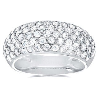 Annello 14k White Gold 1 1/4ct TDW Pave Diamond Band