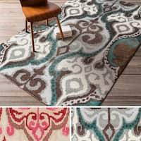 Hand-tufted Dax ton Ikat New Zealand Wool Area Rug - 8' x 11'