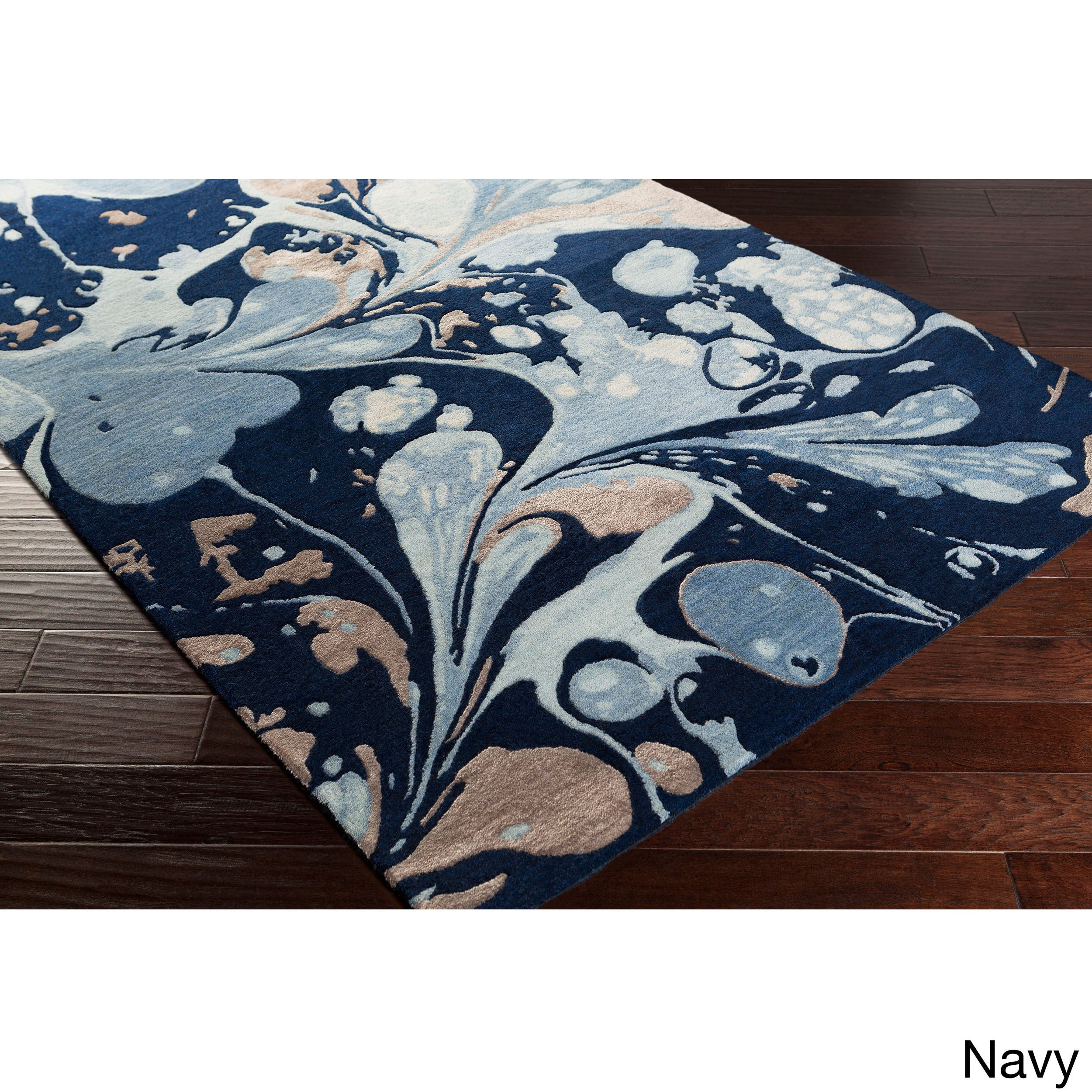 Colonial Mills Hand-tufted Alia Abstract New Zealand Wool...