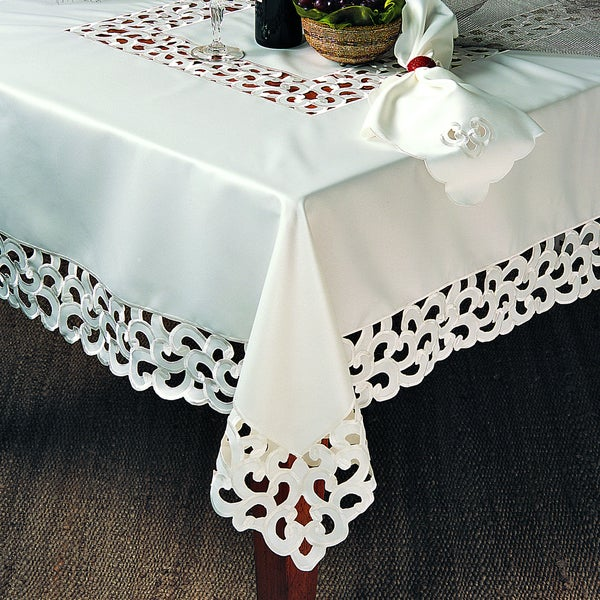 Shop Embroidered Cutwork Tablecloth Free Shipping Today
