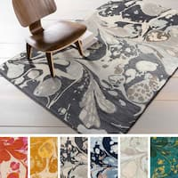 Hand-tufted Alia Abstract New Zealand Wool Area Rug