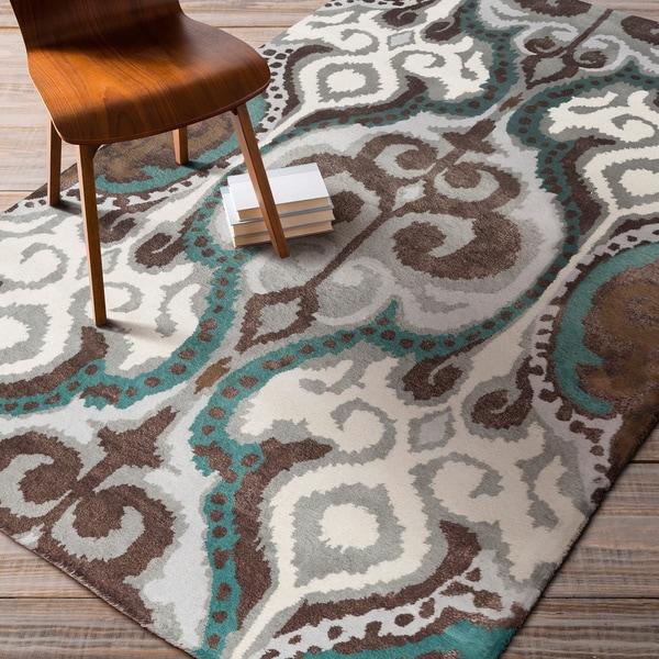 Hand-tufted Dax ton Ikat New Zealand Wool Area Rug (5' x 8')
