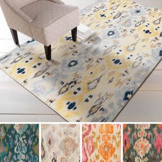 Hand-tufted Jay Ikat New Zealand Wool Rug (8' x 11')