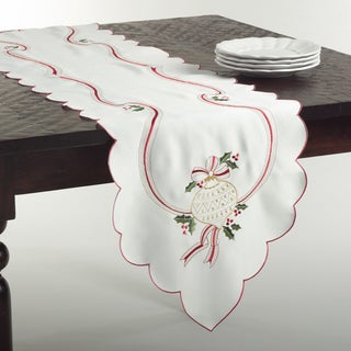 Embroidered Christmas Runner