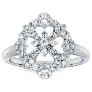Boston Bay Diamonds 14k White Gold and 3/8ct TDW Diamond Fashion Ring (I-J, I1-I2)