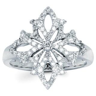 Boston Bay Diamonds 14k White Gold 1/2ct TDW Diamond Snowflake Fashion Ring (I-J, I1-I2)