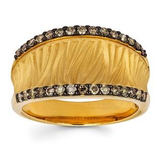 Boston Bay Diamonds 14k Yellow Gold 3/8ct TDW Brown Diamond Fashion Ring