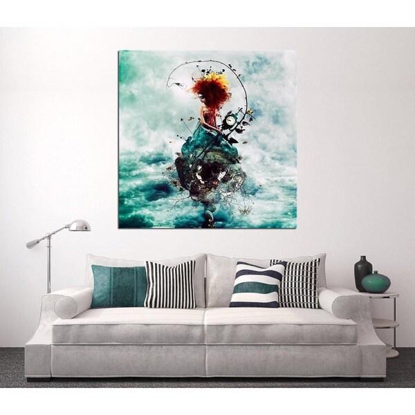 Cortesi Home Delirium by Mario Sanchez Nevado Giclee Canvas Wall Art 28 x 28 Green