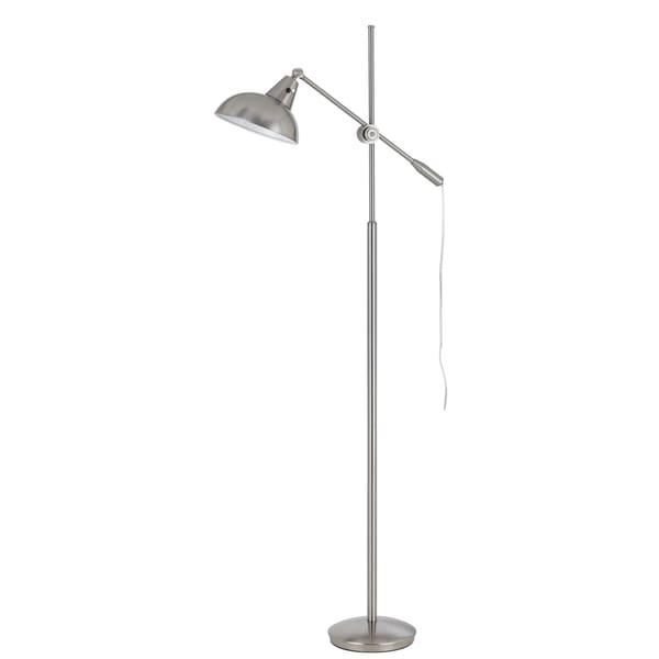 Cal Lighting Brewton Adjustable Arm Metal Floor Lamp