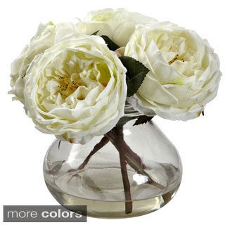 Nearly Natural Fancy Rose Floral Arrangement