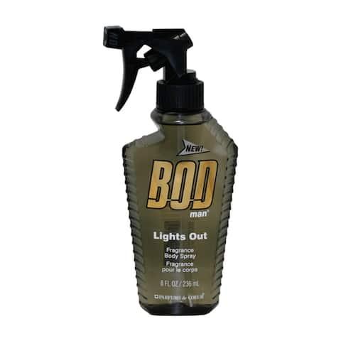 Parfums De Coeur Men's Bod Man Lights Out 8-ounce Fragrance Body Spray