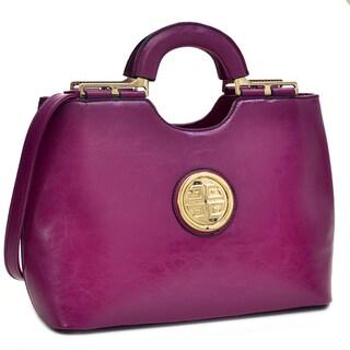 Dasein Faux Leather Loop Handle Shoulder Bag