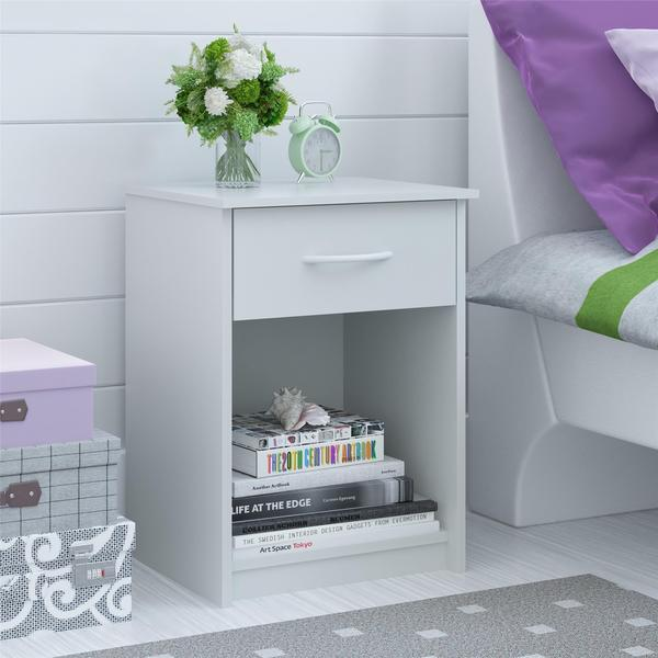 Ameriwood Home Night Stand with Storage Drawer