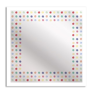 Gallery Direct Watercolor Polka Dots Mirror Art