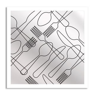 Gallery Direct Gstudio Group 'Forks, Knives and Spoons' Square Mirror Art