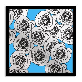 Gallery Direct Anat Tikker 'Blue Roses' Mirror Art