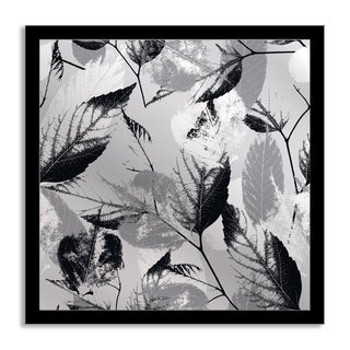 Gallery Direct Depiano 'Grey Leaves' Mirror Art