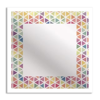 Gallery Direct Watercolor Triangles Mirror Art