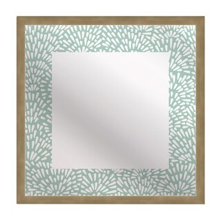 Gallery Direct Kusuriuri 'Floral Teal' Squre Mirror Art