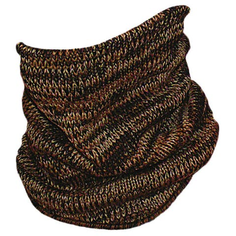 QuietWear Brown Camo Knit Neckup