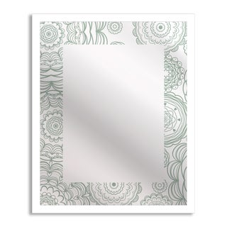 Gallery Direct Flowers in Lace Mirror Art