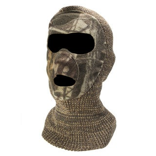 QuietWear Knit and Fleece Grey Mask