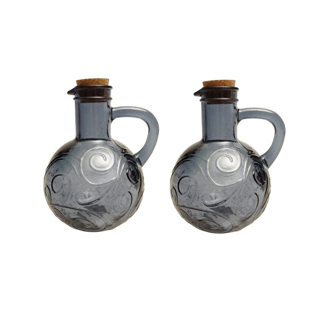 French Home Set of 2, 14-ounce Oyster Grey Oil & Vinegar ...