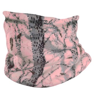 QuietWear Pink Camo Knit Neckup