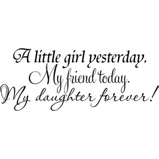Design on Style Vinyl Wall Lettering Art Décor- Daughter/ Friend