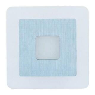 Alumilux E41316-90SA Square White/ Blue Aluminum Wall Sconce