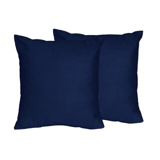Stripe Collection Navy Blue Throw Pillow