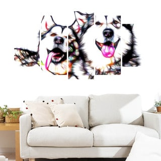 Design Art 'Husky Buddies' Canvas Art