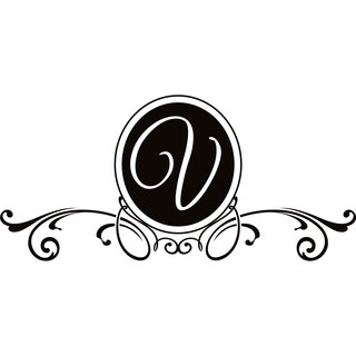 Design on Style V Monogram Vinyl Wall Art Lettering