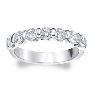 Amore Platinum 1 1/2ct TDW Diamond Bar Ring (G-H, SI1-SI2)