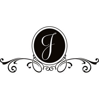 Design on Style J Monogram Vinyl Wall Art Lettering