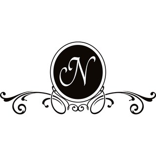 Design on Style N Monogram Vinyl Wall Art Lettering