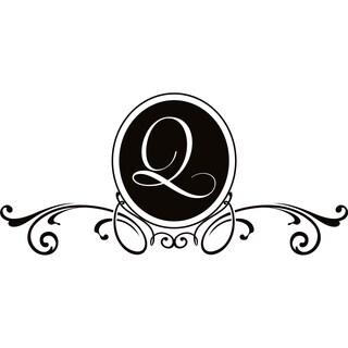 Design on Style Q Monogram Vinyl Wall Art Lettering