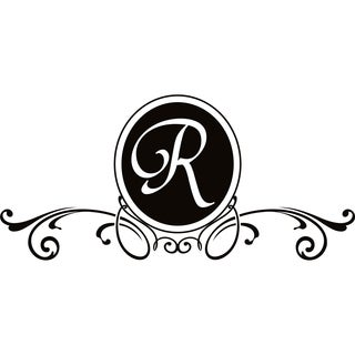 Design on Style R Monogram Vinyl Wall Art Lettering