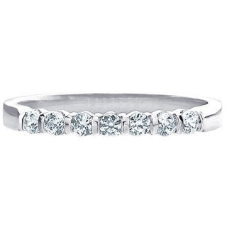 Amore Platinum 1/2ct TDW Diamond Bar Band