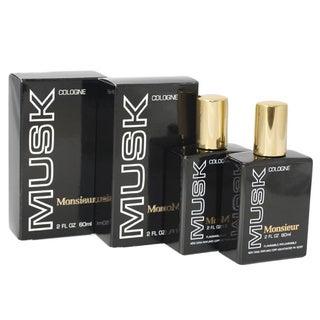 Dana Monsieur Musk Men's 2-ounce Cologne Splash (Pack of 2)